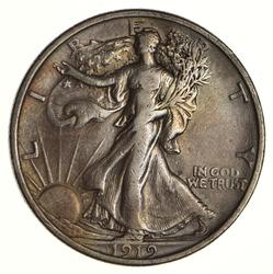 1919 Walking Liberty Half Dollar - Circulated