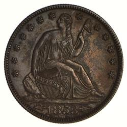1853 Seated Liberty Half Dollar - Near Uncirculated