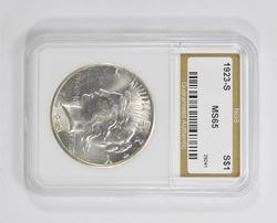 MS65 1923-S Peace Silver Dollar - NGS Graded