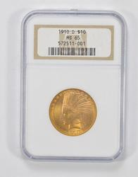 MS65 1910-D $10 Indian Head Gold Eagle - NGC Graded