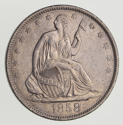 1858-O Seated Liberty Half Dollar - Near Uncirculated