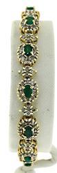 Gorgeous Emerald and Diamond Halo Bracelet