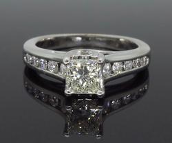 14K White Gold 1.00CTW Diamond Engagement Ring