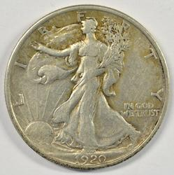 Bold XF 1920-P Walking Liberty Half Dollar