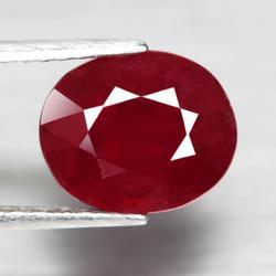 Very impressive 4.27ct oval cut ruby