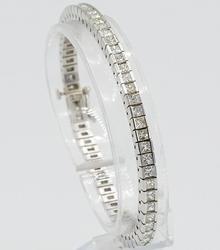 7.00 CTTW Diamond Tennis Bracelet in 14KT White Gold