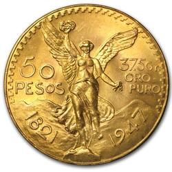 Mexico 50 Pesos Gold Coin