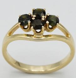 14kt Yellow Gold Green Tourmaline Ring