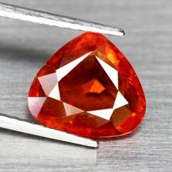 High luster 3.77ct red orange Spessartite Garnet
