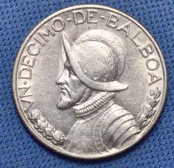 Key 1934 1/10th Balboa, Panama, AU
