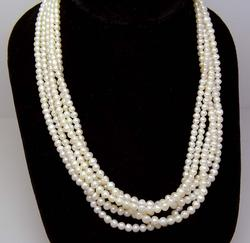 Multi-Strand Pearl Necklace, 18in