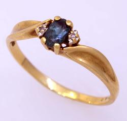 Deep Teal Topaz Ring, Size 7.5