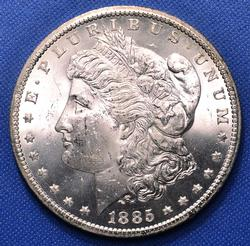 1885-CC Morgan Silver Dollar, BU Choice