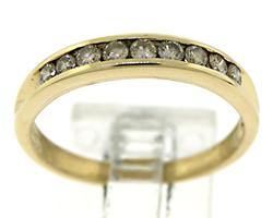 Channel Set Diamond Band Ring