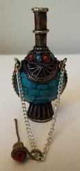 Tibetan Gemstone Snuff Bottle - Medicinal Herbs