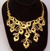 Exquisite 21K Gold Floral Necklace, 17.5in