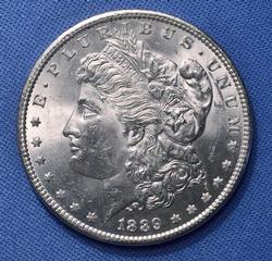 1889 BU Morgan Silver Dollar