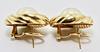 Gorgeous High End 18K Mobe Pearl Earrings