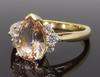 Morganite & Diamond Ring in 14K Yellow Gold