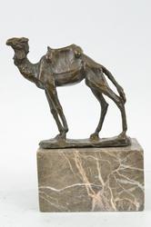 Camel Take a Journey Desert Bronze Sculpture