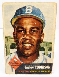 Rare Jackie Robinson 1953 Topps #1 Baseball Card