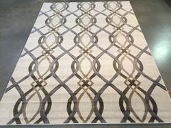 Trendy Lattice Design Hand Made Rug 8x11