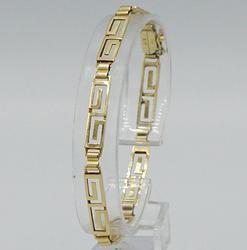 14kt Yellow Gold Geometric Bracelet