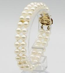 14kt Yellow Gold Pearl Bracelet