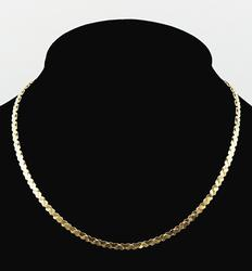 14kt Yellow Gold Heart Chain Necklace