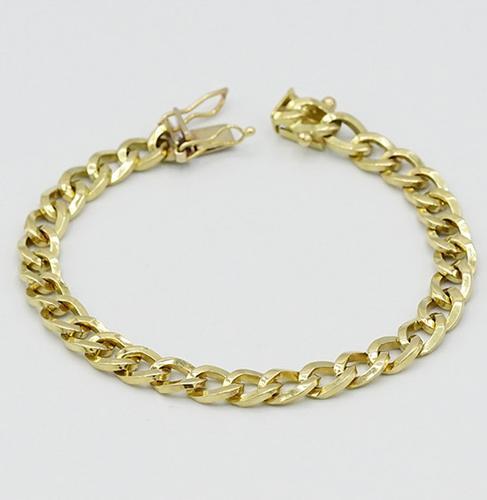 14kt Yellow Gold Cuban-Style Bracelet