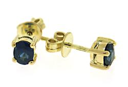 18kt Oval Sapphire Stud Earrings