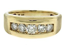 Gent's 14kt Diamond Band Ring