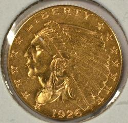 Lovely and lustrous 1926 US $2.50 Indian Gold Piece