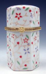 Painted Porcelain Blossoms Toothpick Holder