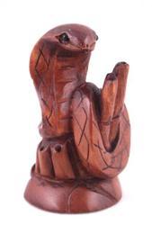 Hand Carved Boxwood Japanese Netsuke