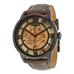 New Mens Brown Dial Fossil Automatic