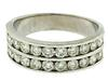Gent's Double Row Channel Set Diamond Band