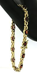 Beautiful Garnet Line Bracelet
