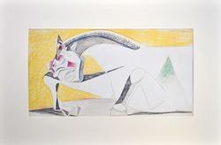 STUDY FOR GUERNICA PABLO PICASSO LITHOGRAPH