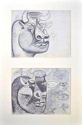 PAIR OF PICASSO  LITHOGRAPHS, STUDY FOR GUERNICA
