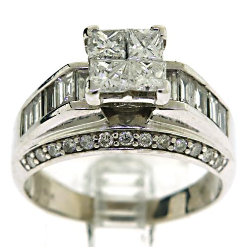 14kt Diamond Invisible Set Ring