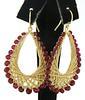 18kt Ruby and Chain Dangle Earrings