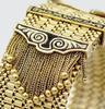 Wide 18KT Yellow Gold Belt Buckle Bracelet