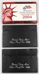 1995 1998 and 2004 US Silver Proof Sets