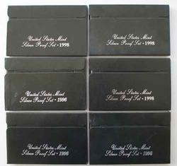 3 Each 1996 and 1998 US Silver Proof Sets