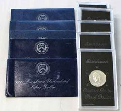 5 Proof and 5 Unc Silver 1ke Dollars