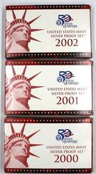 2000 -2002 Silver US Proof Sets