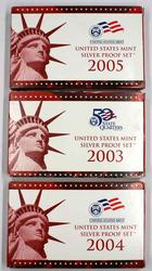 2003 2004 &2005 US Silver Proof Sets in original boxs