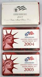 2004 2005 &2007 US Silver Proof Sets in Original Boxs