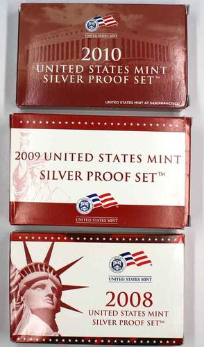 2008 -2010 Silver US Proof Sets
